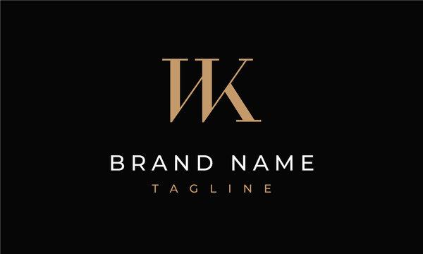 WK Logo Letters WK Monogram