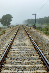 Lonely railroad track