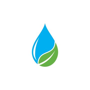 Water drop logo vector icon illustration