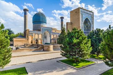 Gur-e-Amir mausoleum, famous architectural complex, Samarkand, Uzbekistan Fototapete