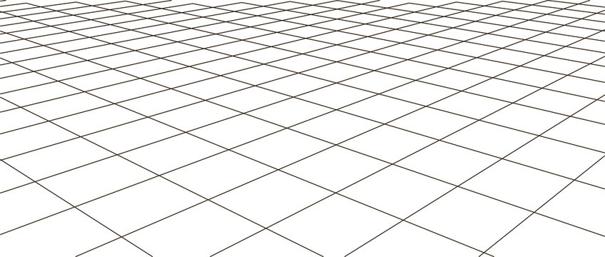 Abstract frame landscape. Vector perspective grid. 3d mesh