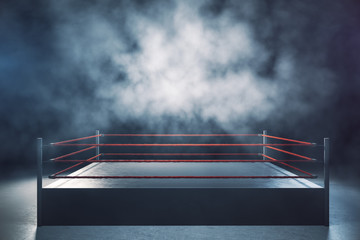 Aluminium Prints London Empty boxing ring