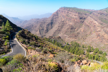 GC 605 high way road in Gran Canaria