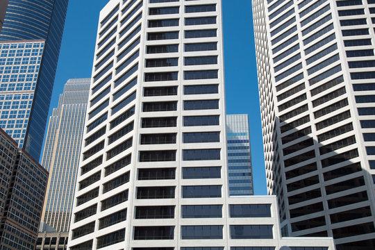 White buildings downtown Minneapolis