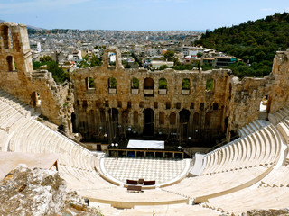 Poster de jardin Athenes Odeon of Herodes Atticus Athens in Greece - ATH