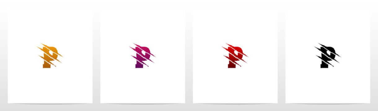 Claw Marks On Letter Logo Design P