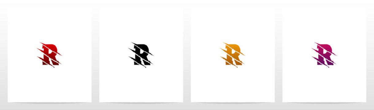 Claw Marks On Letter Logo Design R