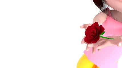 子どもからの薔薇のプレゼント