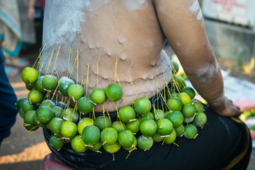 Rituals during Thaipusam festival in Georgetown, Penang, Malaysia