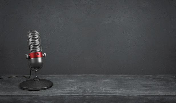 Old fashion retro microphone