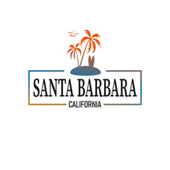 Santa Barbara logo design for travelling industry or t-shirt design