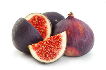 Purple fig fruit closeup