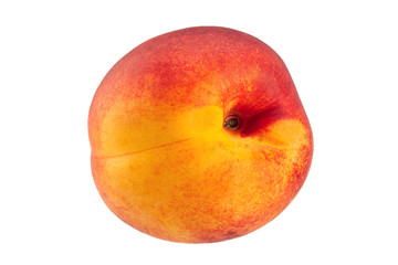 Ripe nectarine fruit on white