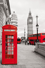 Foto auf Gartenposter London roten bus Center of London. England