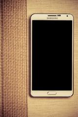Samsung phone on January 8, 2015 Poland