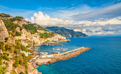 Amalfi town in the Gulf of Salerno in the Italian province of Salerno, in the region of Campania, Italy.