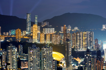Hong Kong view point sunset on the Braemar Hill Peak
