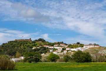 The small town Aljezur in the Algarve, Portugal.
