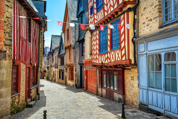 Vitre historical Old town, Brittany, France