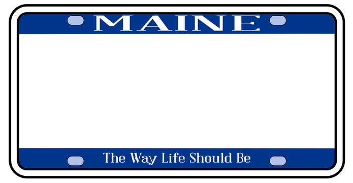 Blank Maine State License Plate