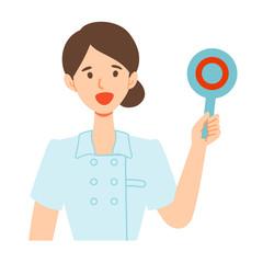 看護師ナース女性の正解イラスト