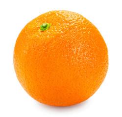 Fototapete - Fresh orange isolated on white background