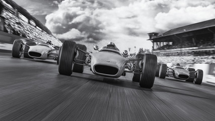Acrylic Prints F1 f1 racing 1966 3d render