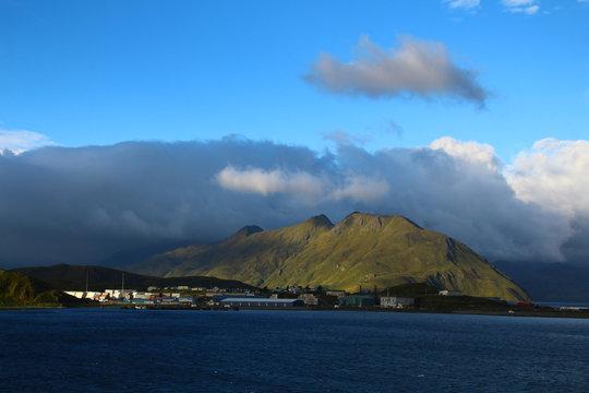 Landschaft Unalaska Island, Aleuten, Alaska