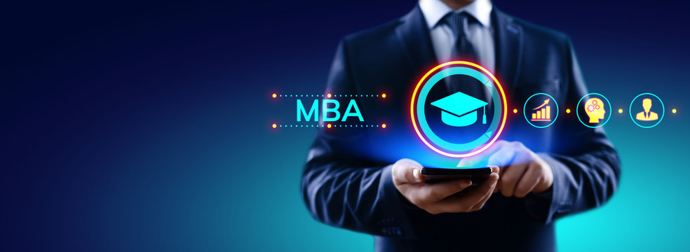 MBA Master of business administration Education concept.