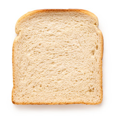 Door stickers Bread Slice of white bread.