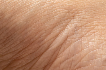 Details of the texture of the skin of a Caucasian woman
