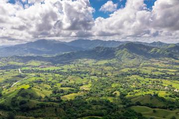 Foto op Plexiglas Pistache Рanoramic landscape of Dominican Republic. Montaña Redonda Miches.