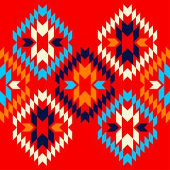 Foto op Canvas Boho Stijl Aztec elements. Ethnic boho ornament. Seamless pattern. Tribal motif. Vector illustration for web design or print.
