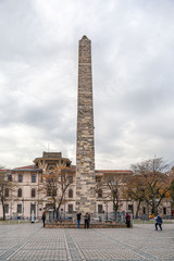 Obelisk of Constantine in Istanbul on Ahmadiyeh square