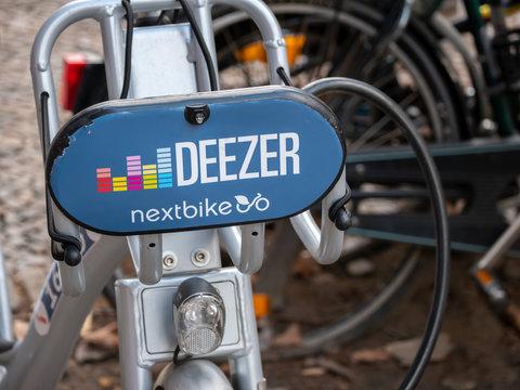 Public Bike Sharing Service Provider: Deezer Nextbike Bicycles In Berlin, Germany