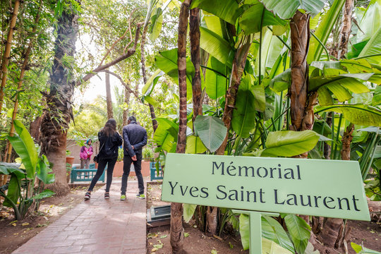 :Memorial of Yves Saint Laurent in Majorelle Garden, Marrakech, Morocco