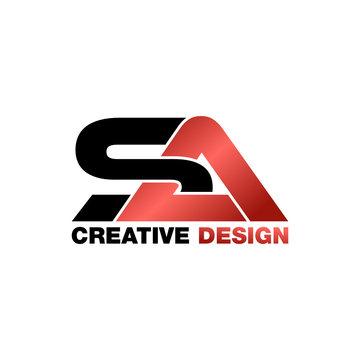 Letter SA logo design vector