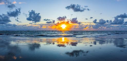 Acrylic Prints North Sea Sonnenuntergang auf Rømø