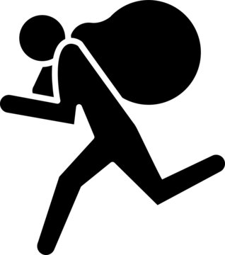 theft icon, vector line illustration