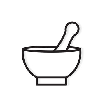 mortar and pestle icon- vector illustration