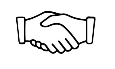 Obraz cooperation shaking hands icon - fototapety do salonu