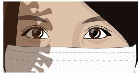 Masque à l'ombre d'un virus