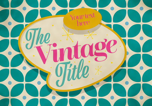 Vintage Style Title Banner Layout