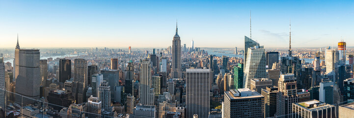 Canvas Prints New York New York City skyline with Empire State Building