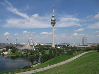 Wall Murals Nasa Olympiaturm und Olympiapark in München