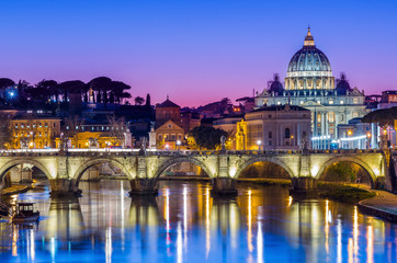 Photo sur Toile Rome St Peter's Cathedral and Vatican city