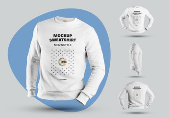4 Mockups of Men's 3D Sweatshirts