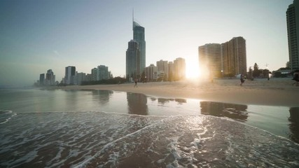 Wall Mural - Surfers Paradise at sunset, Gold Coast, Australia
