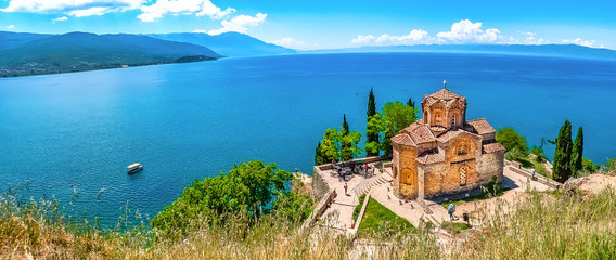 Ohridsee und Sveti Jovan Wall mural