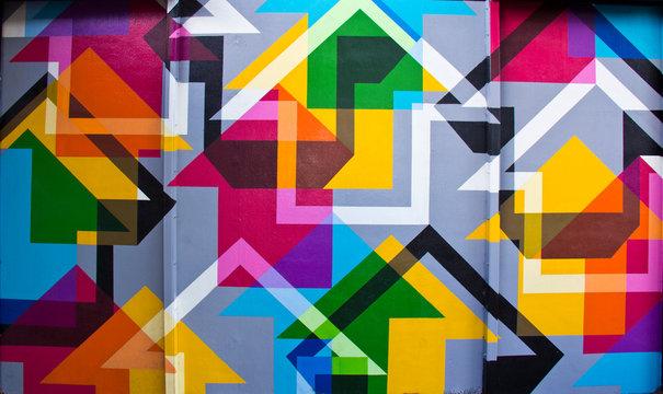 Wynwood Wall Abstract Wall Painting - Miami, Florida